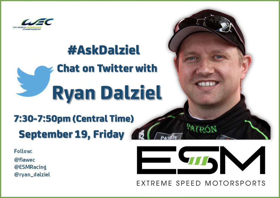 Twitter chat with Ryan Dalziel on Sept. 19
