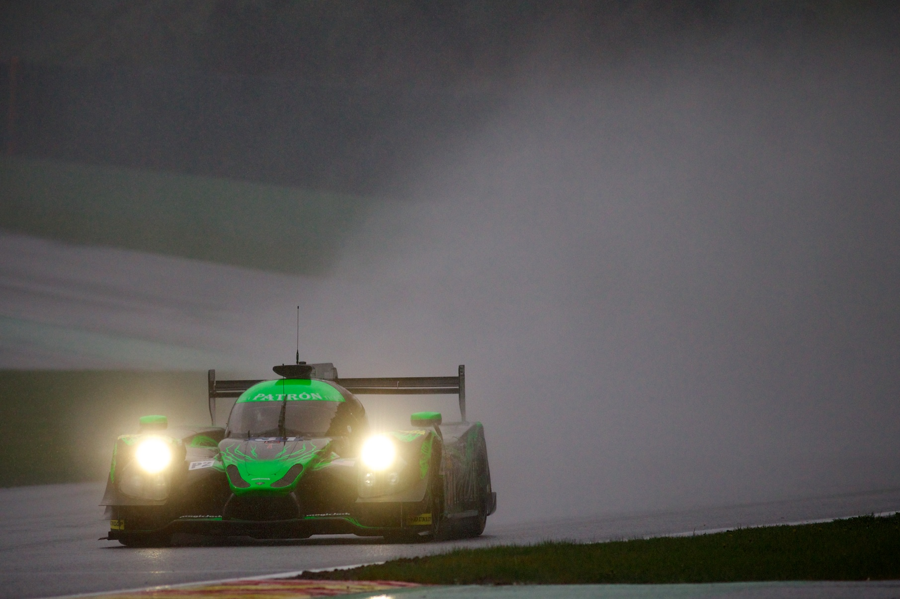 Rainy Opening Practice for Tequila Patrón ESM and Ligier at Spa