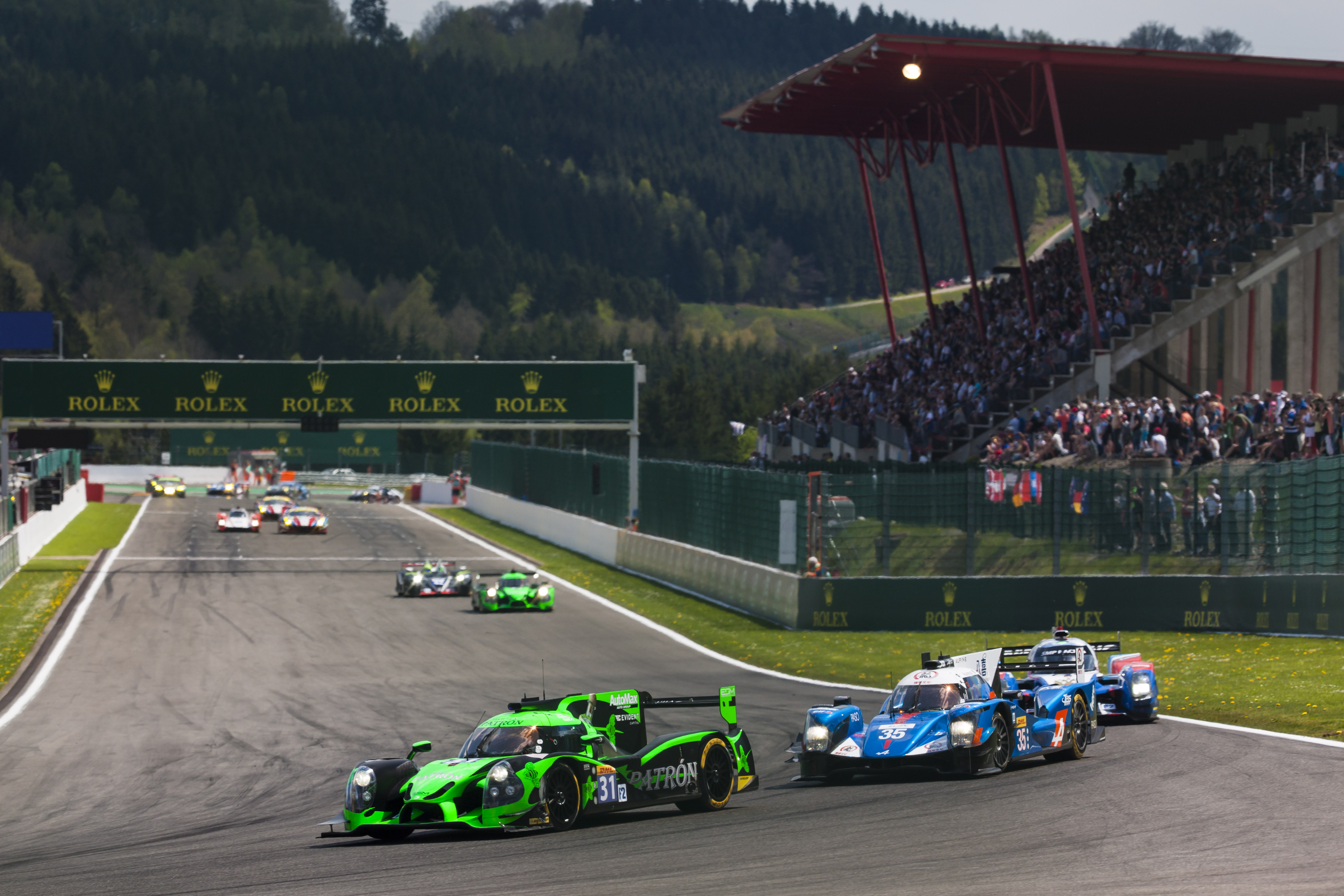 Tequila Patrón ESM Celebrates Podium after Chaotic Spa-Francorchamps